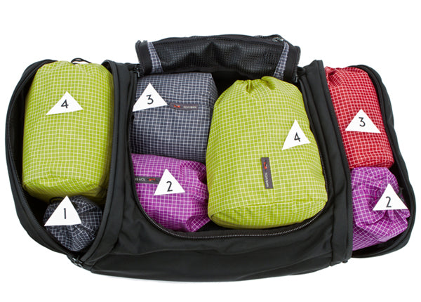 Travel Stuff Sacks in the Aeronaut carry-on travel bag by TOM BIHN