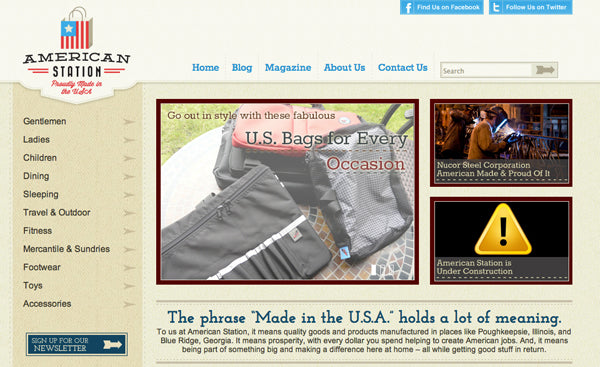 American Station: U.S. bags for every occasion