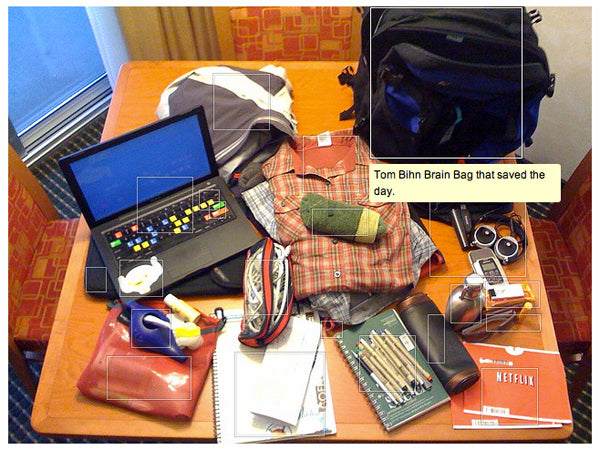 Photo by Beck Tench: What's in my Brain Bag?