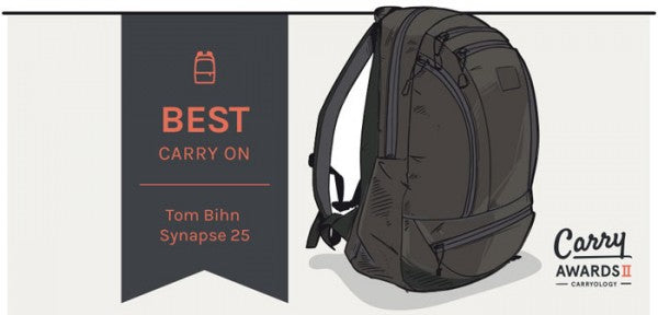 TOM BIHN | Carryology names Synapse 25 best carry on backpack