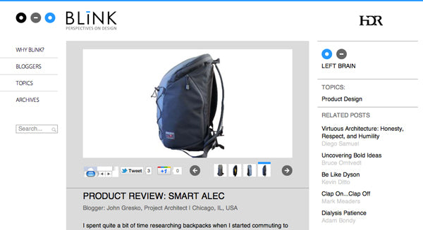 BLiNK Perspectives on Design by HDR review of the Smart Alec