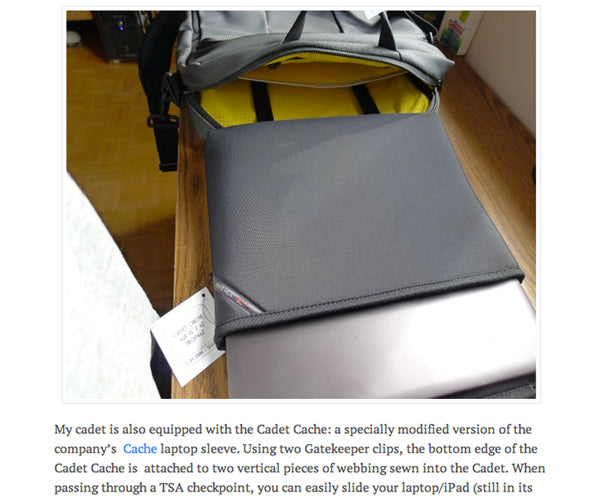 TOM BIHN Cadet is the best bag for Ultrabooks
