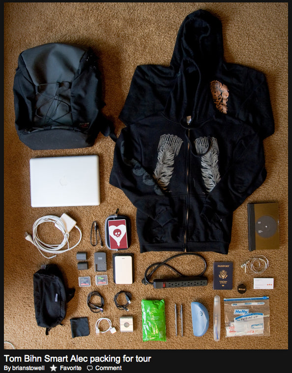 Brian Stowell: TOM BIHN Smart Alec packing for tour photo