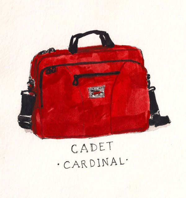 The TOM BIHN Cadet as sketched by artist Dan Bransfield