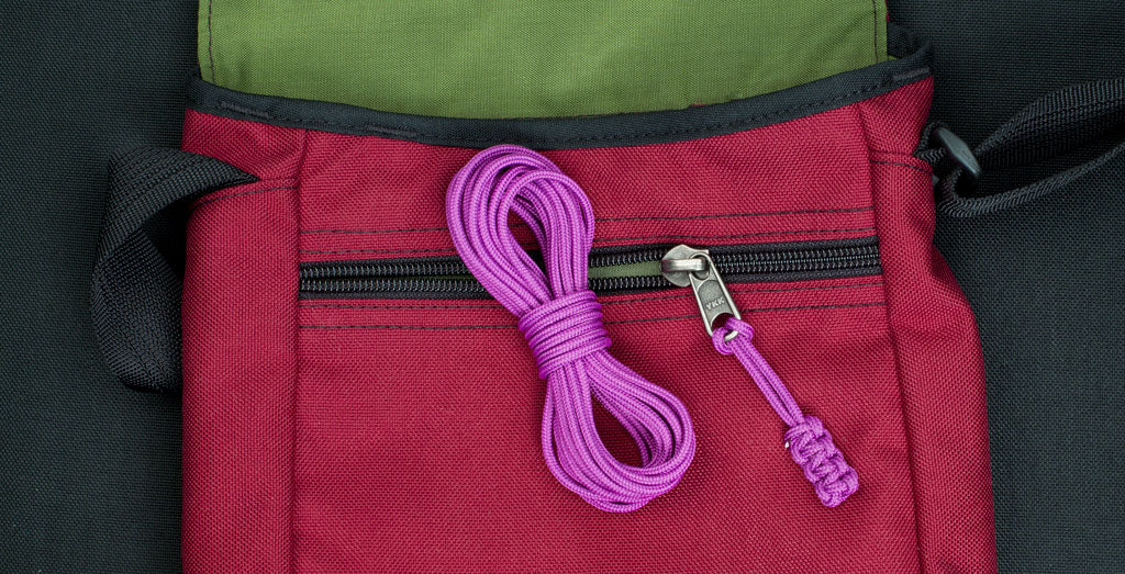 Accessory Debuts! Ultraviolet Cord Zipper Pulls | TOM BIHN