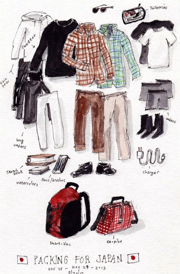 TOM BIHN| Sketches from Japan • Autumn 2013 - Dan Bransfield