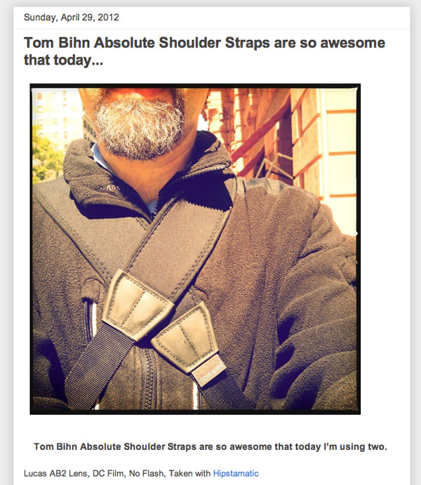 Tom Bihn Absolute Shoulder Straps are so awesome that today...