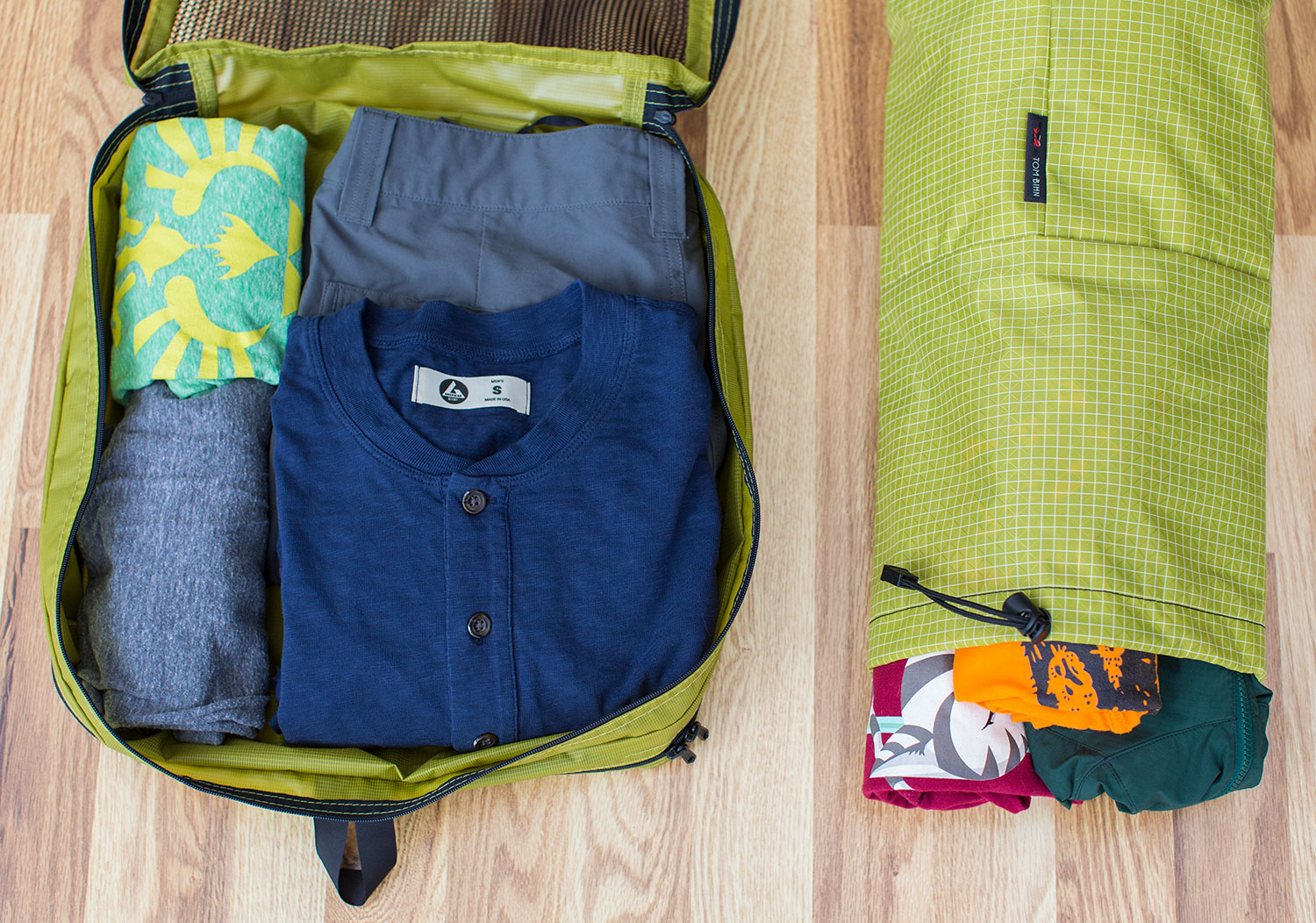 Laundry Packing Cube and the Laundry Travel Stuff Sack