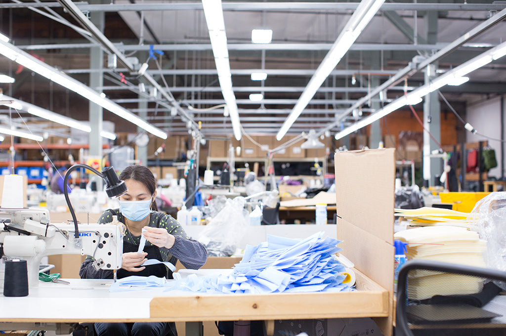 We at TOM BIHN are sewing face masks for healthcare professionals in our Seattle factory.