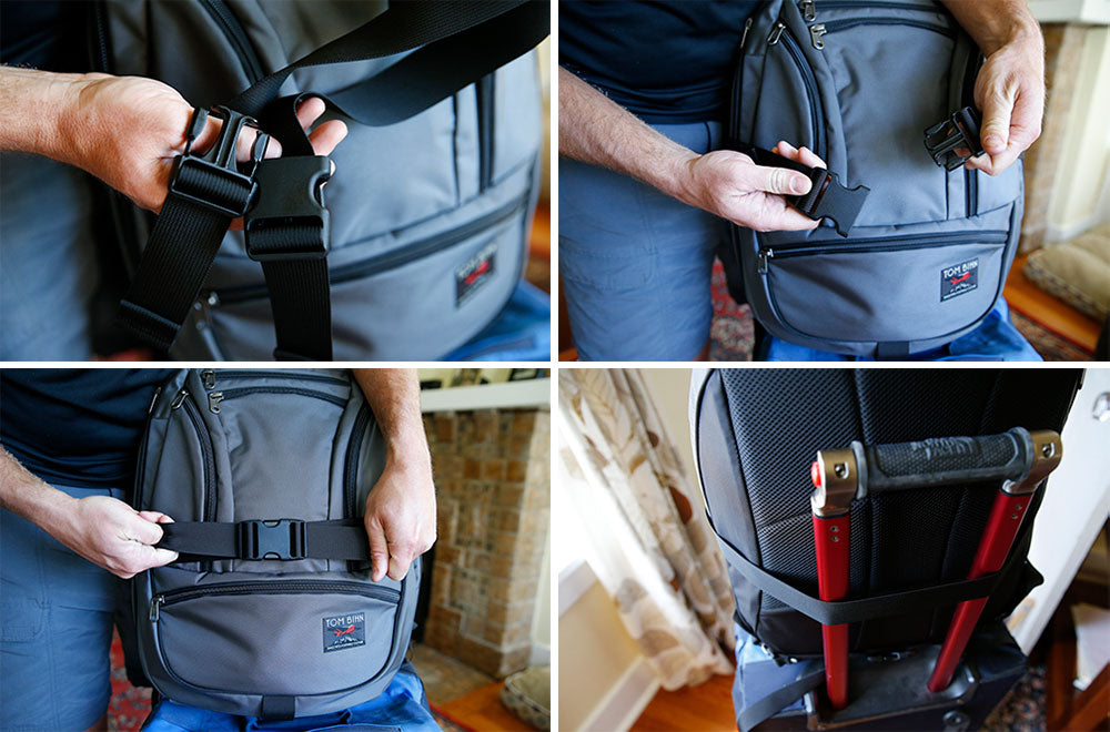 Using the Simple Rolling Luggage Lash Strap with the Synik 30