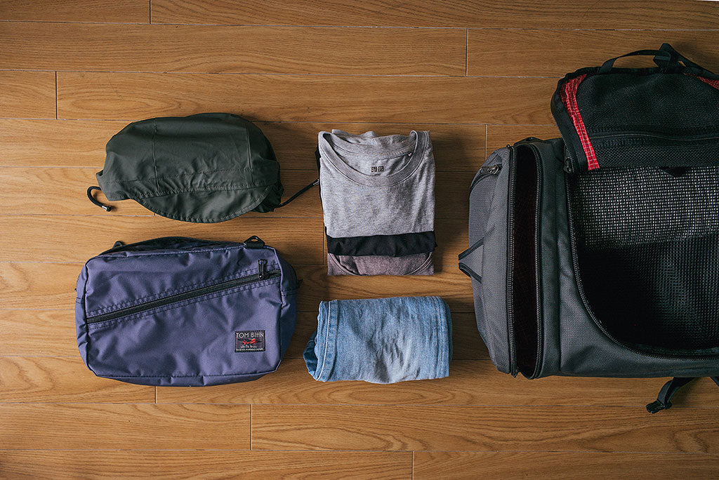 A Minimalist Convertible Packing Cube Travel Shoulder Bag