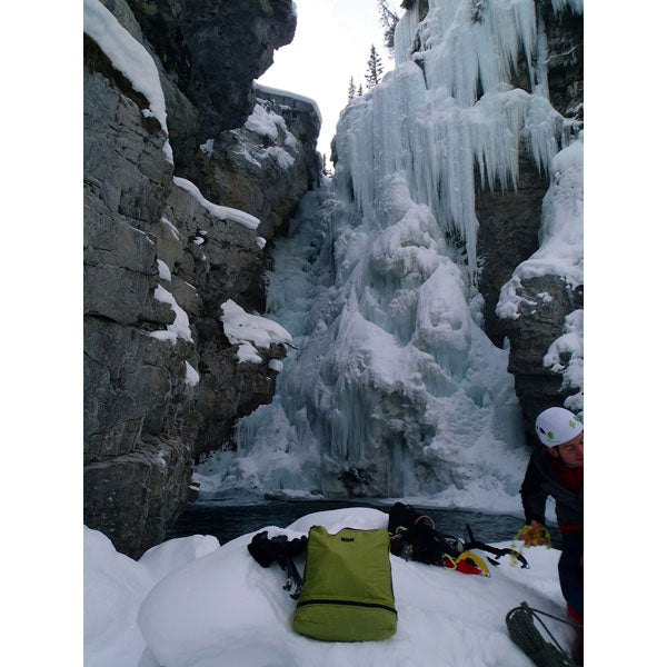 TOM BIHN Packing Cube Backpack Goes Ice Climbing