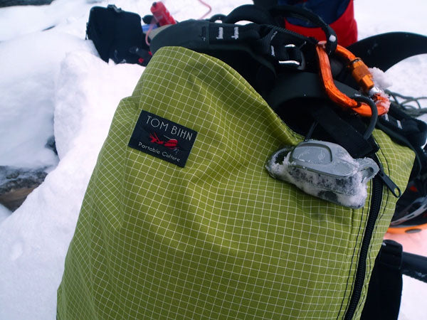 Packing Cube Backpack Goes Ice Climbing