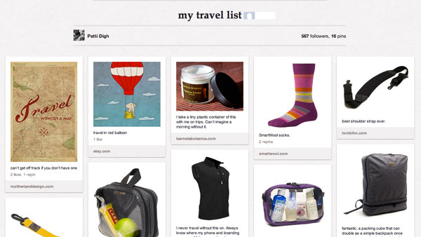 Patti Digh Travel List on Pinterest