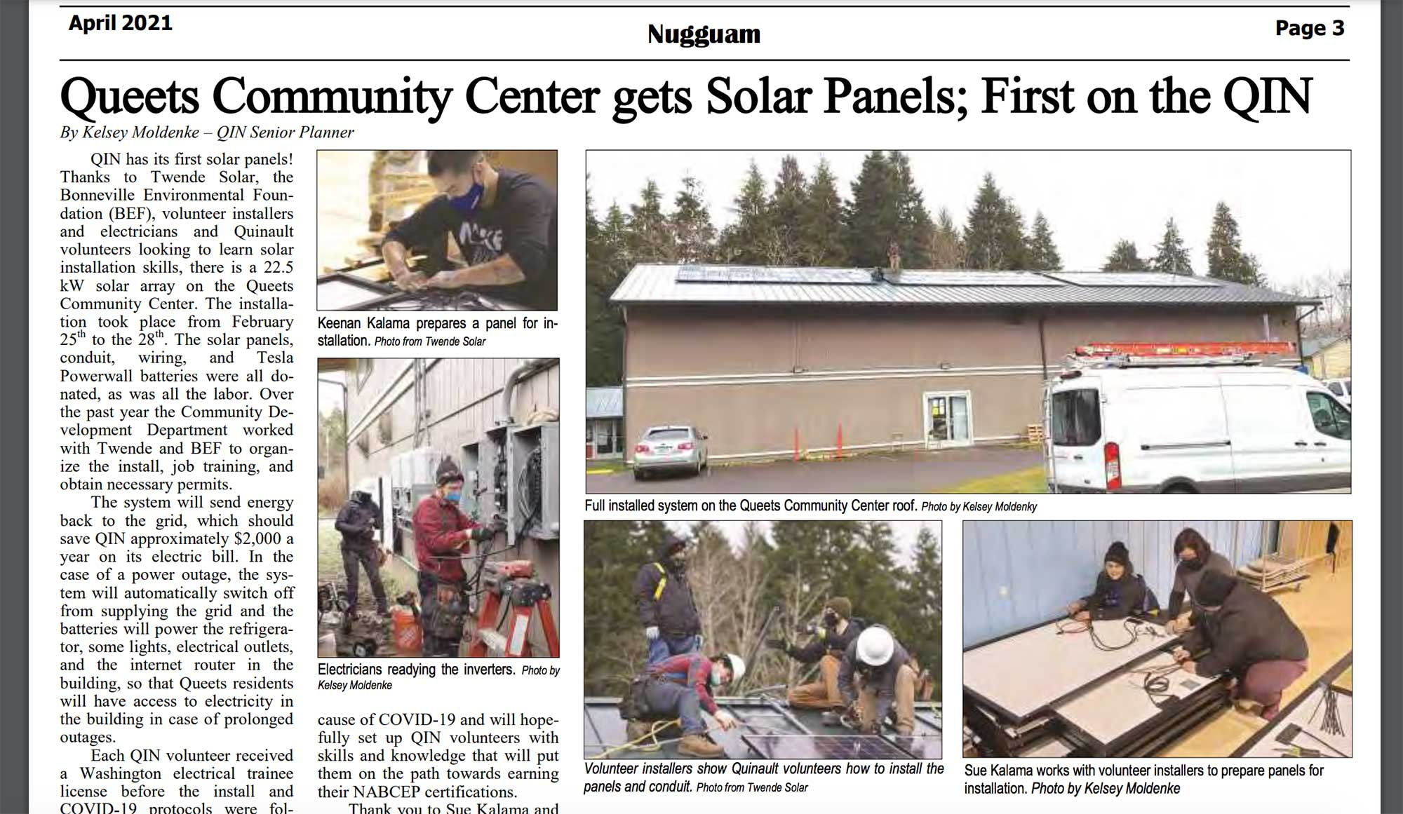 Nugguam article on the QIN Solar project