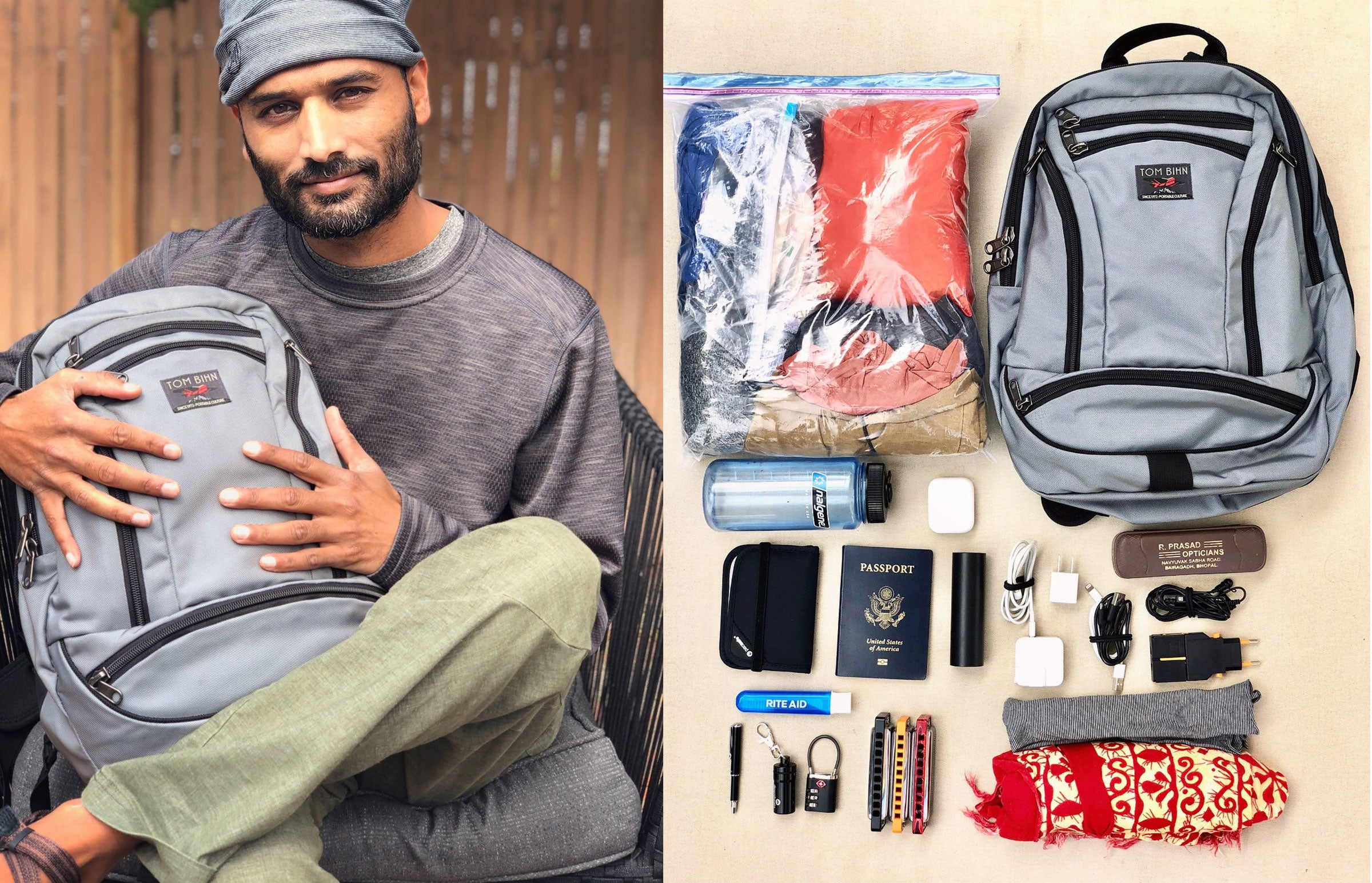 Extreme Minimalist Travel using the TOM BIHN Synapse 19 Backpack: An Interview with Rishi O
