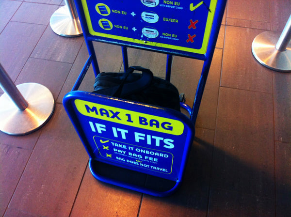 Tri-Star luggage in a Ryanair Cabin Bag Tester