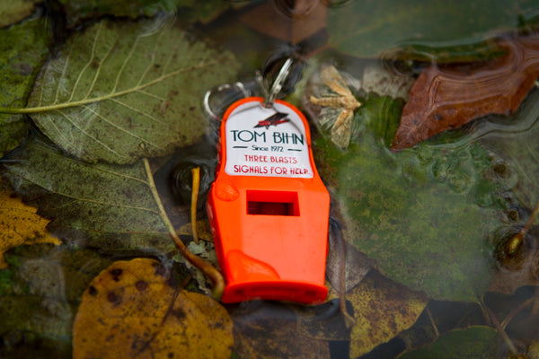 TOM BIHN Tri-Power Safety Whistle is waterproof