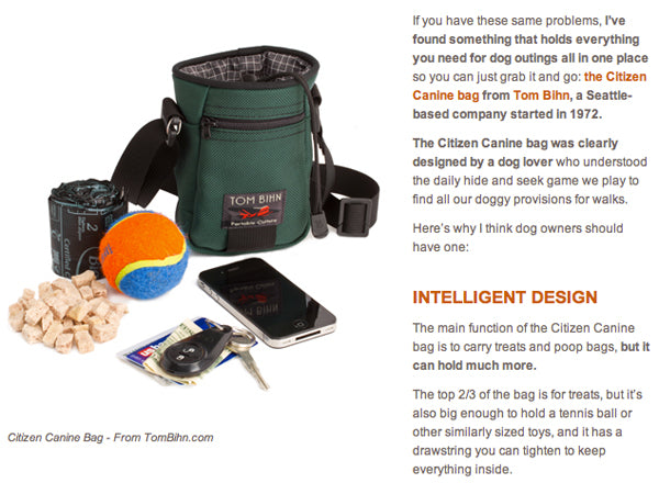 Seattle Dog Spot reviews the TOM BIHN Ciitzen Canine