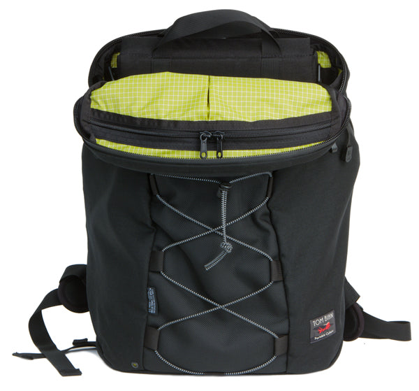 Smart Alec backpack in Black/Black/Wasabi