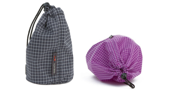 Travel Stuff Sacks in Steel and Ultraviolet