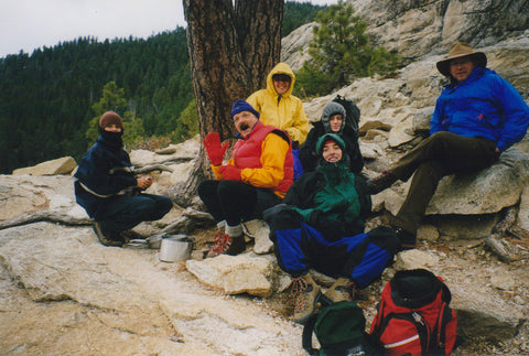 Tom and friends on a hike in California in the 1980's.