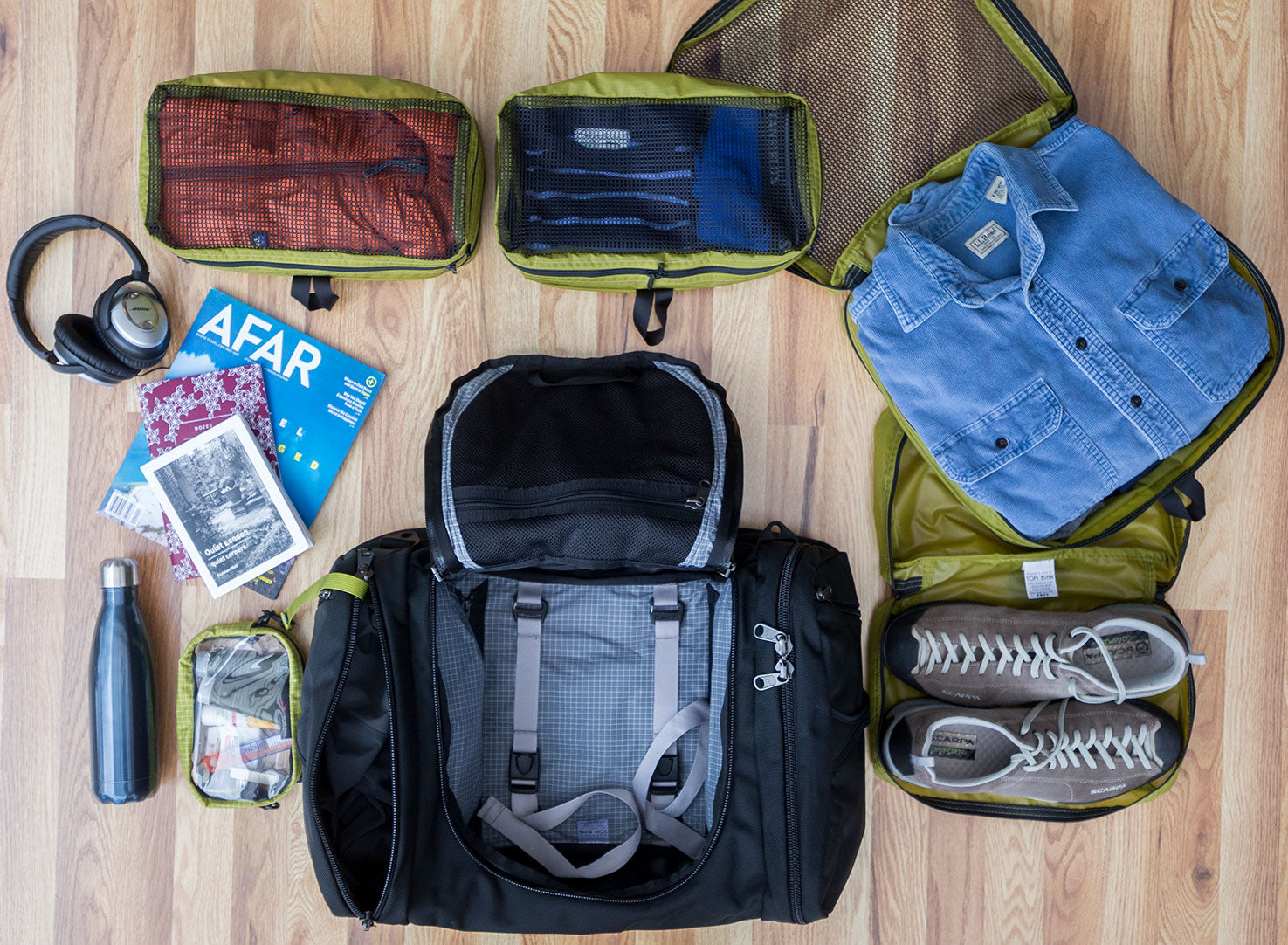 Aeronaut 45 Travel Bag with Packing Cubes by TOM BIHN