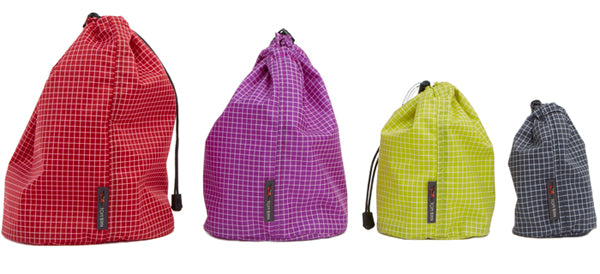 Travel Stuff Sacks in four colors