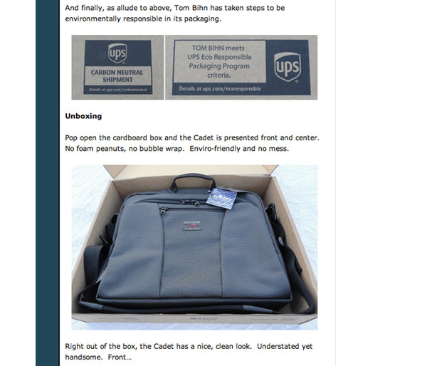 The Gadgeteer Review of the TOM BIHN Cadet Unboxing
