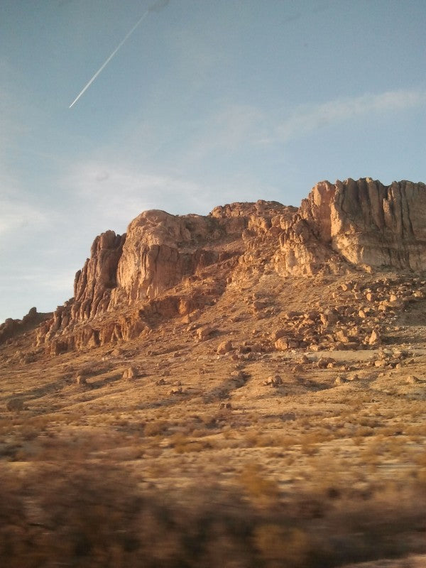 Allison's view from the train, somewhere in Arizona.