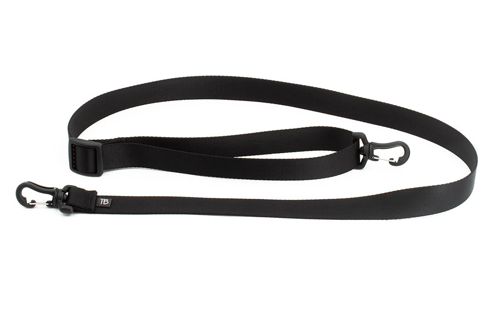 The One-Inch Shoulder Strap, a black inch-wide strap with snaphooks at either end.
