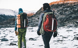 A person ice hiking with a Guide's Edition Synapse 25.