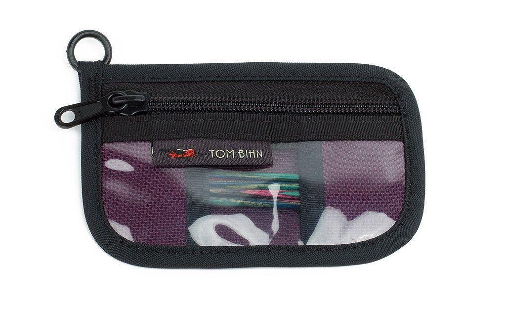 Knitting Tool Pouch Size 1 in Aubergine (dark purple) 1050 Ballistic.