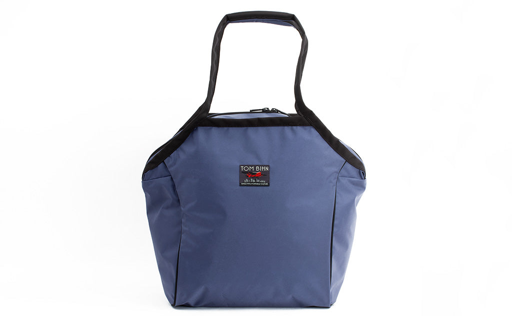 The Large Zip-Top Shop Bag in Dawn (blue-grey) 210 Ballistic.