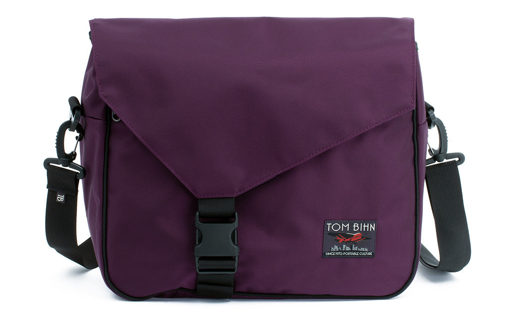 The Maker's Bag in Aubergine (dark purple) 525 Ballistic.