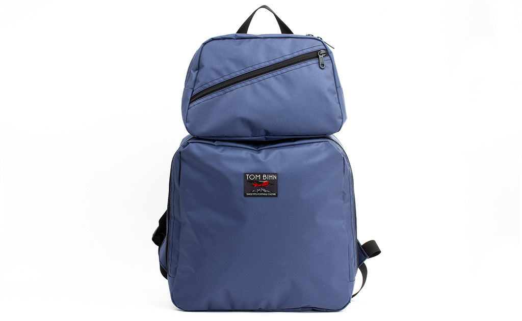 An Aeronaut 30 Packing Cube Backpack in Dawn (blue-grey) Ballistic.
