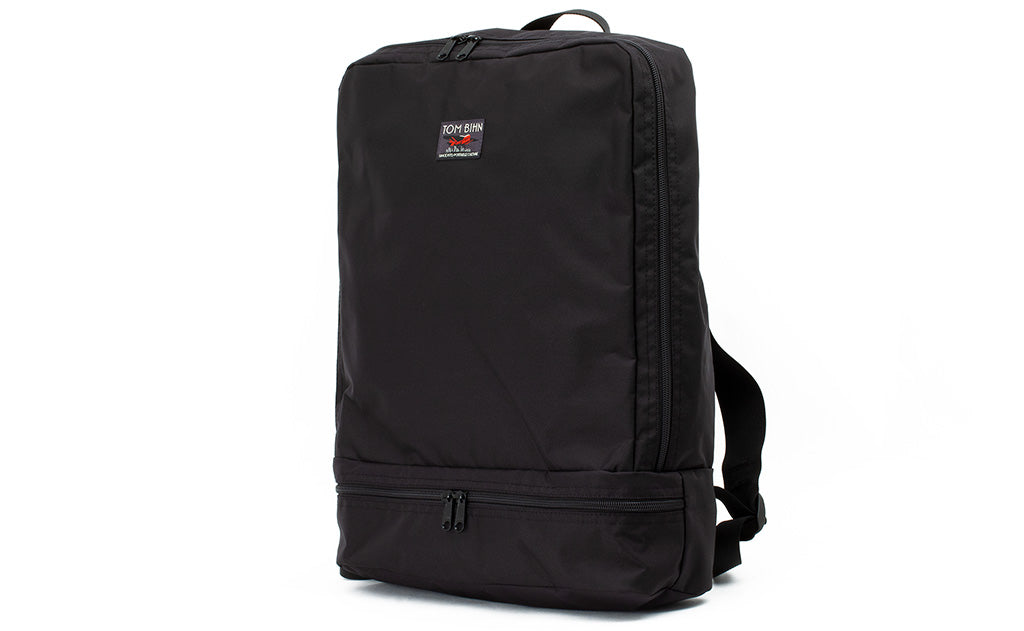 An Aeronaut 45 Packing Cube Backpack in Black 210 Ballistic.