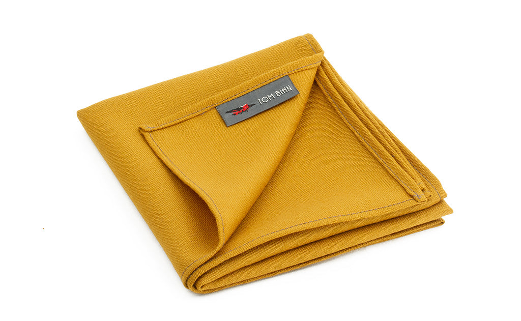 The Shepherd's Wool Utillity Cloth in Saffron (goldenrod yellow).