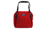 The Pop Tote in Mars Red 525 Ballistic.