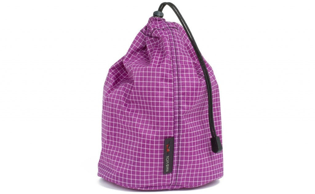 A Size 3 Ultraviolet (purple with white grid) 200 Halcyon Travel Stuff Sack.