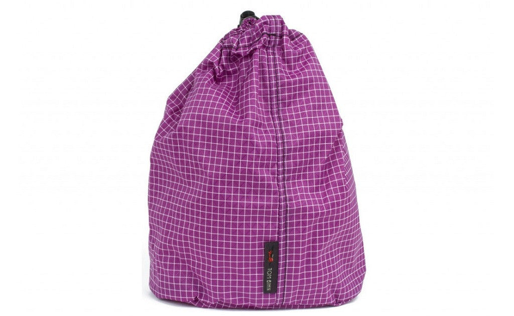 A Size 4 Ultraviolet (purple with white grid) 200 Halcyon Travel Stuff Sack.