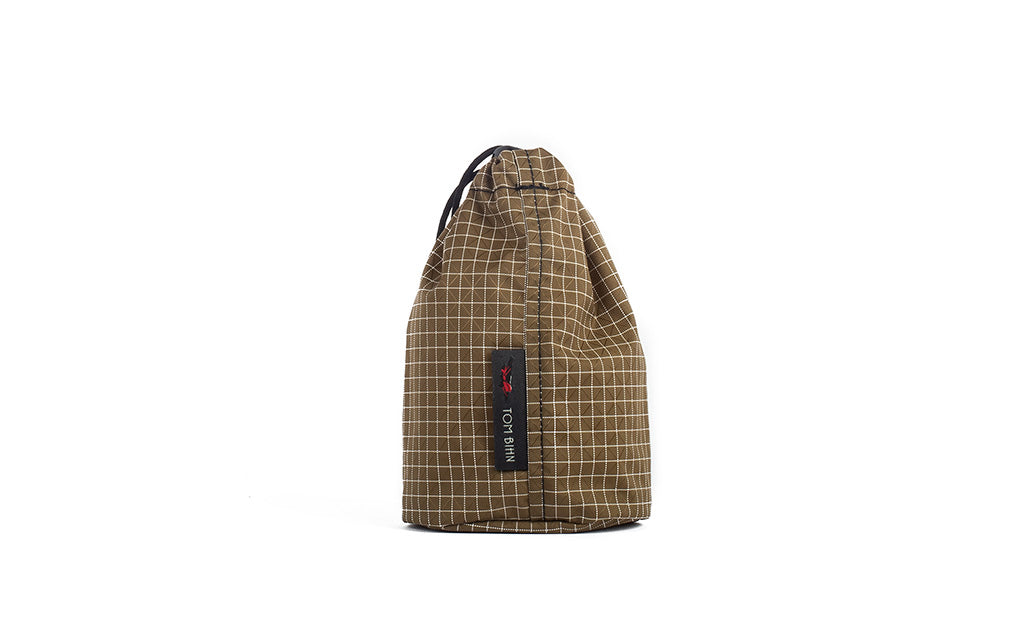 A Size 1 Coyote (brown with white grid) 200 Halcyon Travel Stuff Sack.