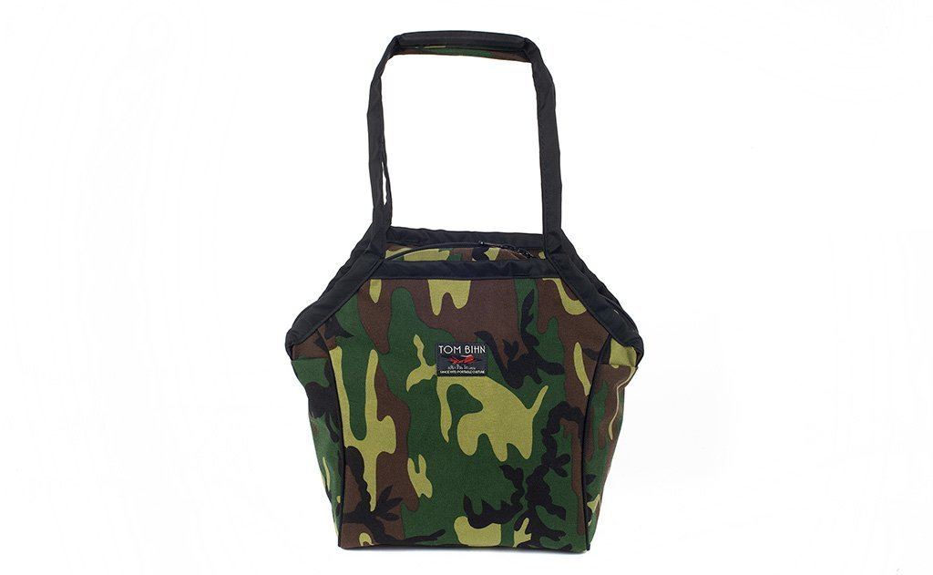 A Small Zip-Top Shop Bag in Beaver Camo (jungle camo) 1000d Cordura.