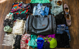 A multi-day packout for the Aeronaut 30, including two pairs of jeans, 3 shorts, 5 tops, and undergarmants for 5 days.
