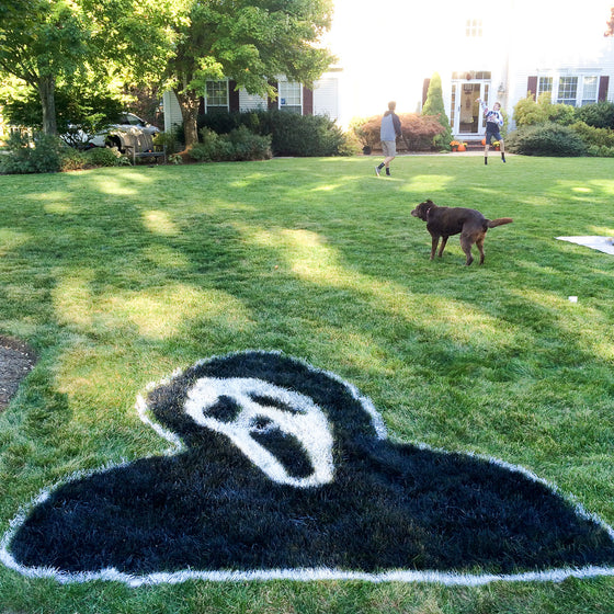 Halloween  Giant Scream, Screaming Reaper lawn logo stencil kit