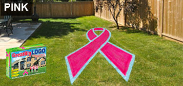 GIANT BREAST CANCER AWARENESS PINK RIBBON STENCIL KIT