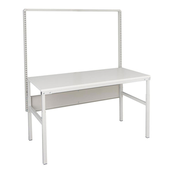 "Treston - 14-C10041397 | 30"" x 60"" Concept manual frame with laminate worksurface and 53.5""H single bay upright module"