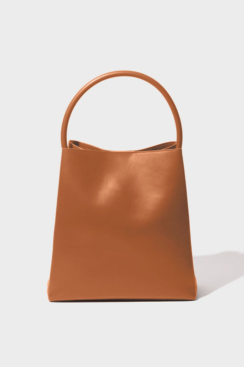 Arch Handle Pleat Tote | Canyon