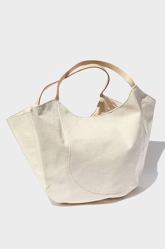 Oversize Natural Cotton Canvas Tote