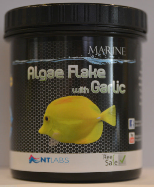 Algae flake with garlic  by NT labls  available in 2 sizes
